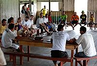 Community meeting in the village of Centro do Arapiri