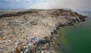 An extraordinary 'rubbish island' in the Maldives. Thousands of tons of rubbish has been dumped here, and it now spills off the side of the island into the sea.