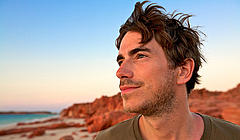 TV presenter and WWF ambassador Simon Reeve, during his journey around the Indian Ocean.