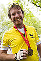 Justin Avern after the RideLondon100 event