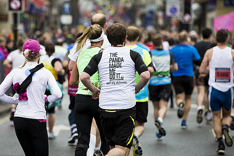 Runners at  Brighton Marathon 2014