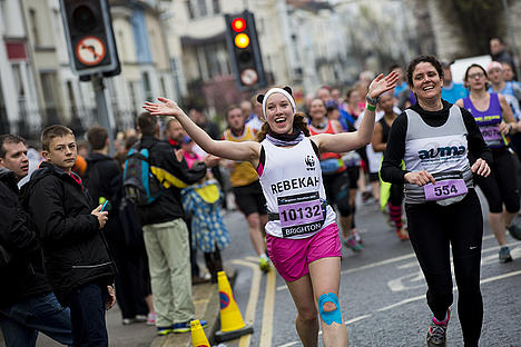 Rebekah at Brighton Marathon 2014