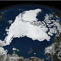 Satellite image of Arctic ice © NASA