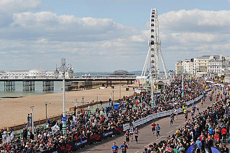 The Brighton marathon runners.