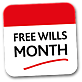 Calendar Logo - Free Wills Month