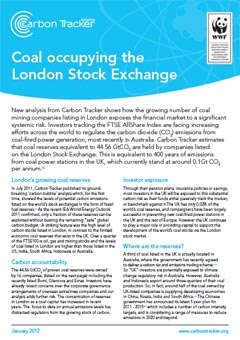 Coal occupying the London Stock Exchange