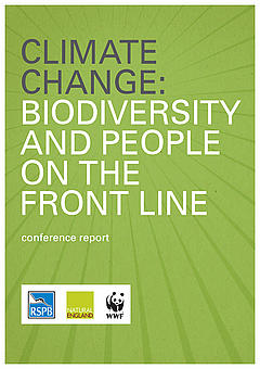 Front cover of the report 'Climate Change: Biodiversity and people on the front line'