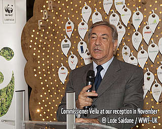 Commissioner Vella at a WWF reception in November 2015