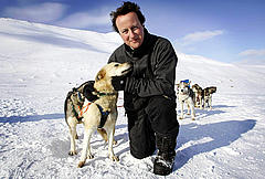 David Cameron in the Arctic in 2006.