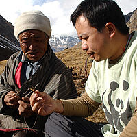 WWF staff working with local people in Bhutan