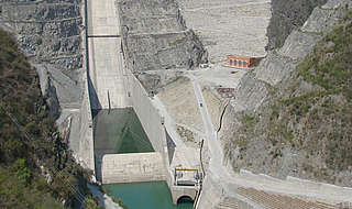 The Tehri dam on the Ganges River