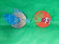 Fish made out of old CDs