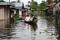 Flooding Lanjak, West Kalimantan, Borneo
