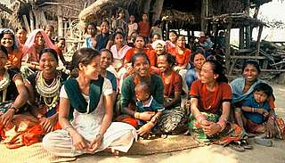 Members of the Kalpana Women's Group at Mohanpur, near Royal Bardia National Park, Nepal