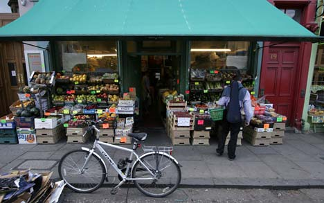 Local greengrocer's shop