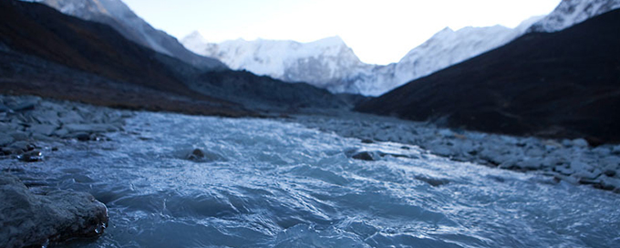 Lake Imja outflow, Everest region, Himalayas