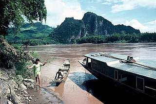 Mekong river; former proposed dam site.