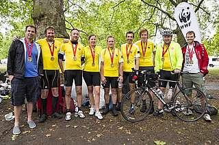 Team Panda at RideLondon 2014