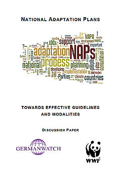 Front cover for 'National adaptation plans towards effective guidelines and modalities discussion paper'.