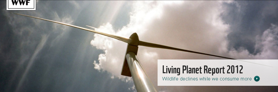 Windturbine, Spain. Living Planet Report 2012
