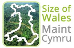 Maint Cymru - Size of Wales