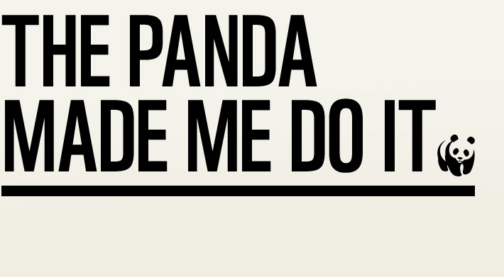 The Panda Made Me Do It campaign logo