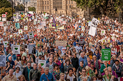 WWF supporters take part in climate march