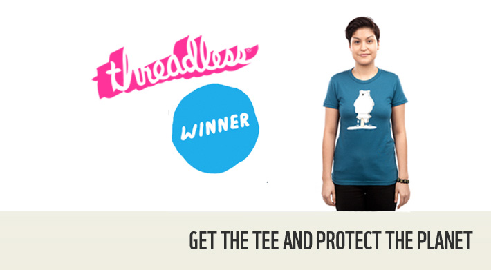 Winning design in the WWF+Threadless challenge
