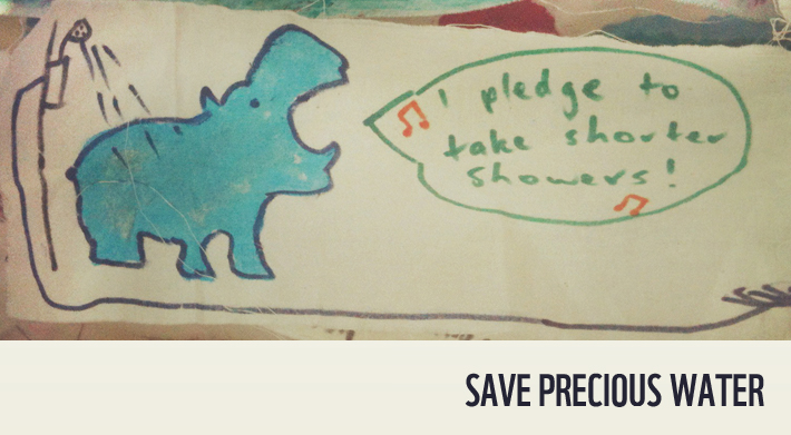 Handmade pledge to save water