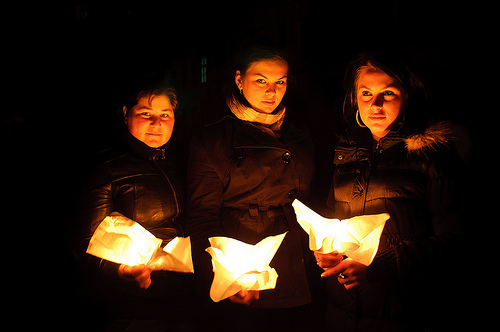 WWF's Earth Hour 2012, Bistrita, Romania