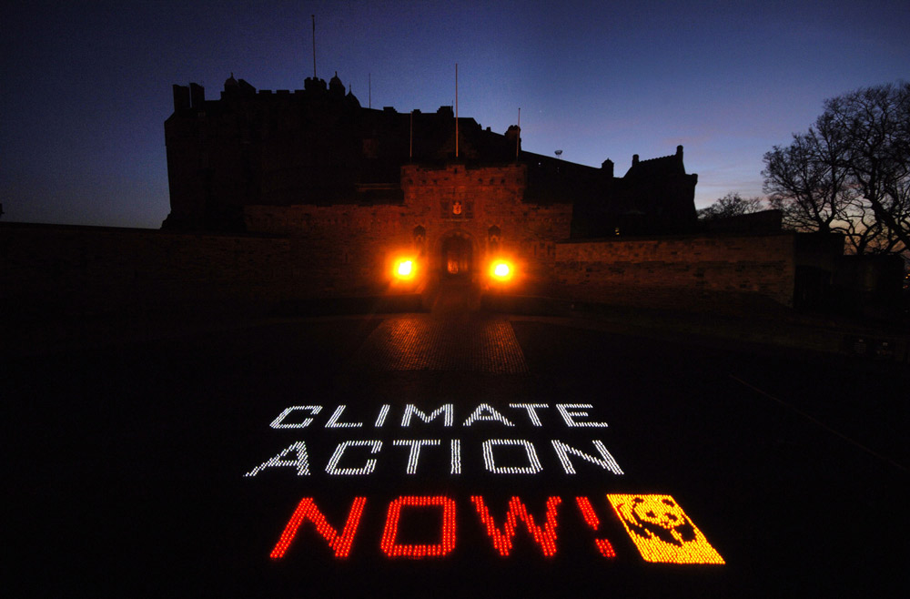 Earth Hour 2012, Edinburgh Castle, Scotland