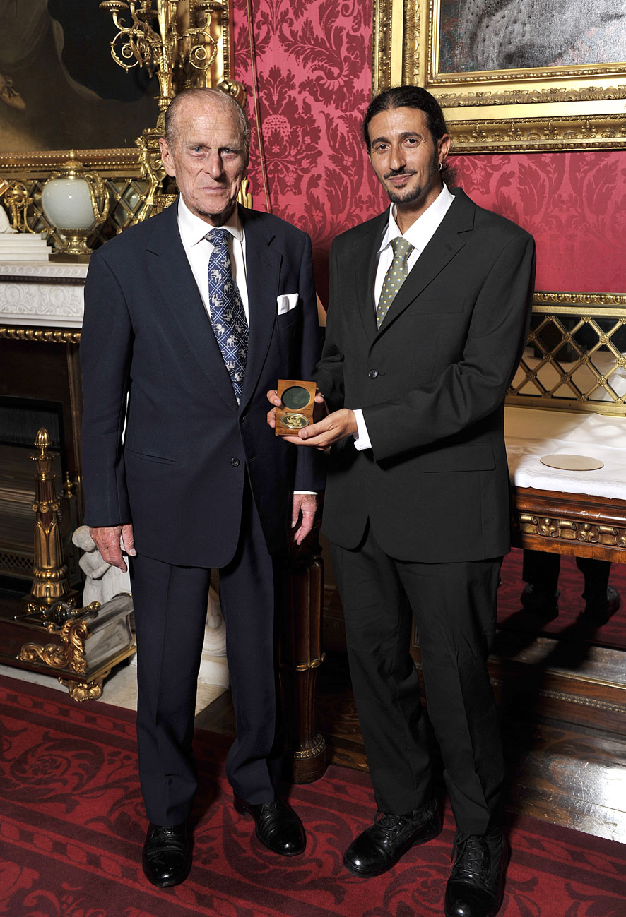 Ofir Drori with HRH Duke of Edinburgh