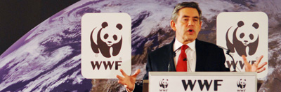 Gordon Brown making his climate change speech