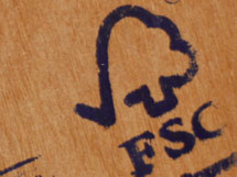 Choose FSC certified wood and paper