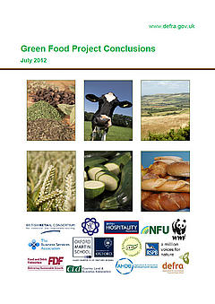 Front cover for the Green Food Project Report