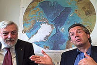 Professor Peter Wadhams and Pen Haddow talk about the Catlin Arctic Survey results