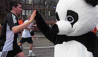 Reading Half Marathon - high fives