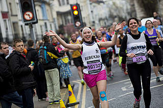 Team Panda runner Rebecca at the Brighton Marathon