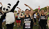 Panda warming up before the Royal Parks Foundation Half Marathon last year.