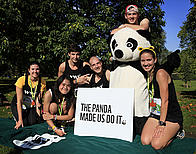 Team Panda at the 2012 Royal Parks half marathon