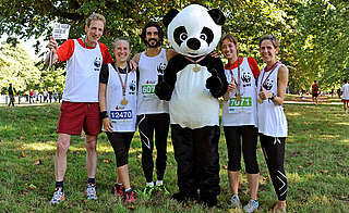 Team Panda runners after the Royal Parks Half Marathon
