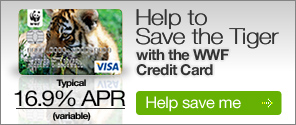 Help to save the tiger with the WWF credit card