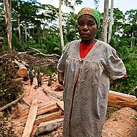 Woman at a WWF-supported community forest project, East province, Cameroon
