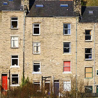 Terraced housing in the North of England