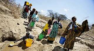 Fetching water, Tanzania
