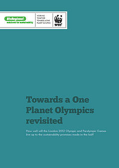 Cover for Towards a One Planet Olympics revisited report
