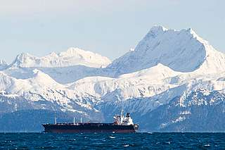 An oil tanker, Prince William Sound, Alaska, United States.