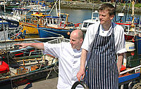 Paul Curry and Ray Moran at Greencastle Port