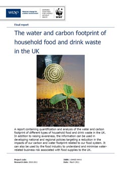 The water and carbon footprint of household food and drink waste in the UK
