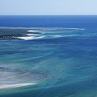 Aerial view of the western Madagascar's Coastline. Madagascar